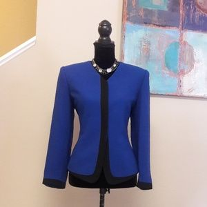 Kasper A.S.L. Petite/ Blue/ Black/ Career Blazer